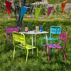 salon jardin children pour enfant table et 4 chaises