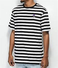 broken promises thornless black white striped t shirt