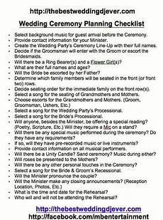 ceremony planning sheet checklist this covers everything