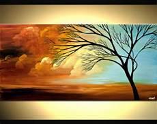 Zeitgen 246 Ssische Baum Acryl Malen Bunte Landschaft Malerei