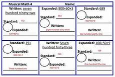 expanded form standard form written form musical math game tpt