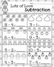 subtraction lesson worksheets 10156 kindergarten math and literacy worksheets for february epic math ideas preschool math