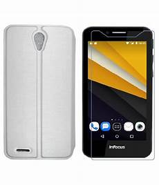 sellnxt diary flip cover and tempered glass combo for infocus m260 white buy sellnxt diary