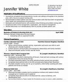 nursing student resume exle 10 free word pdf