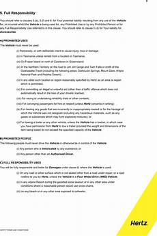 download sle hertz car rental agreement for free page