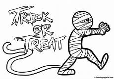 trick or treat mummy clipart free coloring