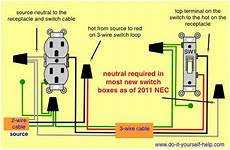 diy wiring diagrams for light switches wiring diagrams for switch to control a wall receptacle do it yourself help com electrical