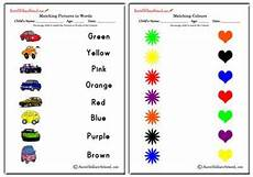 identifying colors worksheets 12760 matching colours worksheets matching colour and pictures worksheets matching colours to words