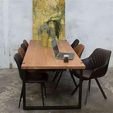 esszimmertisch massivholz industrie esstisch woody 240 x 90 cm esszimmertisch