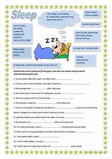by olya malynovska english sleep worksheets printable worksheets esl