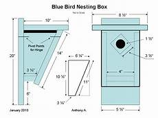 bluebird houses plans how to build a peterson slant front style bluebird house