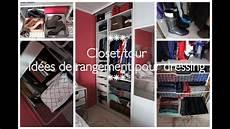 ranger dressing closet tour astuce rangement dressing