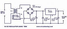 6 Volt Regulator Circuit Using 7806 Voltage Regulator Ic