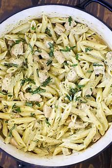 creamy chicken pesto pasta recipe yummy healthy easy