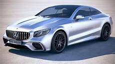 s63 amg coupe 3d model mercedes s63 amg coupe 2018 cgtrader