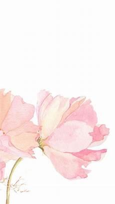 Iphone Lock Screen Watercolor Wallpaper by Pink Watercolour Floral Flowers Iphone Phone Wallpaper