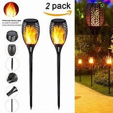 garten licht solar 2pcs solar fackel garten 96led licht flackernde flamme