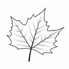 Herbst Blatt Symbol Umriss Stil Stockvektor
