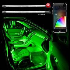 glowing interior xkchrome bluetooth app controlled 6pc interior car truck