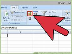 how to sort microsoft excel columns alphabetically 11 steps
