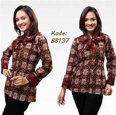 10 baju batik lengan panjang modern baju batik kantor