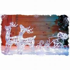 traineau avec 2 rennes acrylique lumineux achat vente