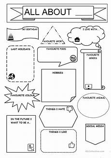 all about me english esl worksheets