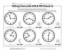 telling time worksheets using am and pm 3220 telling time to five minutes worksheet education
