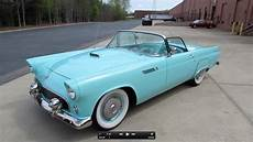 1955 Ford Thunderbird Roadster Start Up Exhaust And In