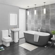 designer bathroom ideas pro 600 grey modern free standing bath suite plumbing uk