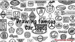 Drawing Famous Car Logos  YouTube