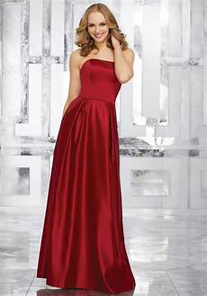 dress mori lee bridesmaids fall 2017 collection 21548 strapless satin bridesmaids dress