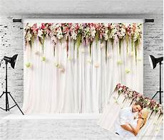 7x5ft Wedding Flowers Wall Backdrop by 2020 7x5ft White Curtain Wedding Photography