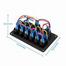 6 gang led rocker switch panel 12v 24v car boat marine circuit breaker voltmeter 822187979142 ebay
