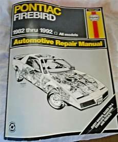 online car repair manuals free 1993 pontiac firebird engine control haynes repair manual 79019 pontiac firebird 1982 thru 1992 for sale online ebay