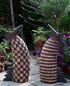 keramik hahn und henne gartendekoration margit