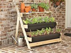 jardin potager sur terrasse 3 tier terrace planter garden inspiration