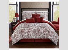 Chic Home Elle Reversible Comforter Set in Burgundy