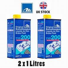 ate typ 200 dot4 performance racing brake fluid replaces