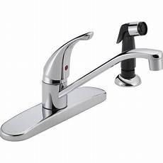 how to replace a single handle kitchen faucet peerless single handle kitchen faucet with side sprayer chrome p115lf w walmart