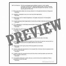 types of maps worksheet middle school 11616 weather instruments worksheet middle school ms ess2 5 middle school weather instruments