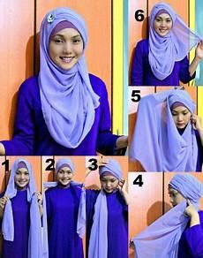 Cara Memakai Jilbab 2 Warna Untuk Kebaya