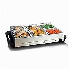 amazon com megachef mc 9003c buffet server food warmer with 4 sectional heated warming