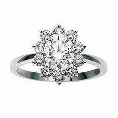 white gold oval diamond cluster engagement ring temelli