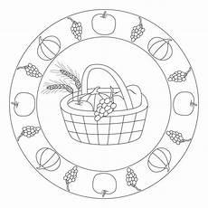 Ausmalbilder Herbst Mandala Kostenlos Kindergarten Herbst Erntedank Mandala Fruit Herfst