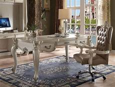 white home office furniture sets home office set 2 pcs bone white 92275 versailles acme