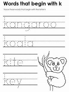 letter k preschool worksheets 24403 standard block printing tracers beginning consonant sounds