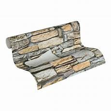 naturstein tapete vliestapete premium wall tapete in naturstein optik braun