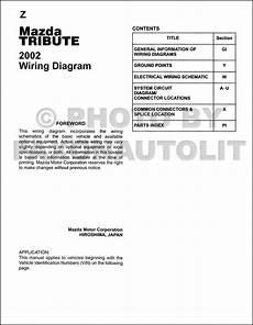 2002 mazda tribute engine diagram 2002 mazda tribute wiring diagram manual original