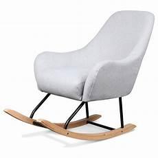 Fauteuil Rocking Chair Design Scandinave Bois Et M 233 Tal